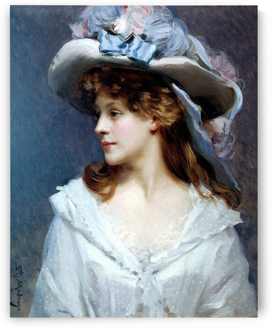 Woman in White by Ricardo de Madrazo y Garreta