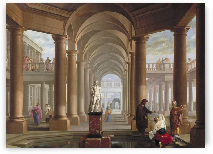Architectural Fantasy with Susanna and the Elders by Dirck van Delen