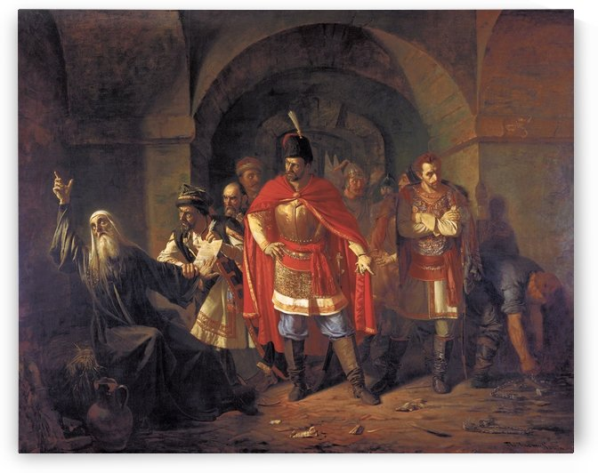 Patriarch Hermogenes Refusing to bless the Poles by Vasily Sergeyevich Smirnov