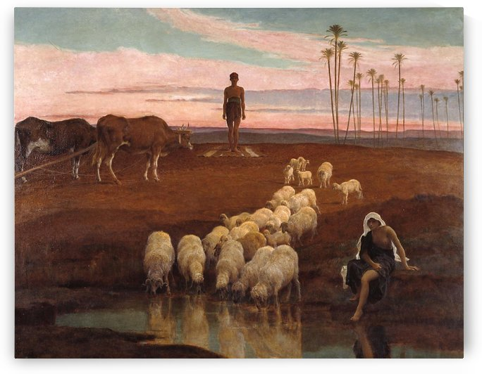 The Ploughman and the Shepherdess by Frederick Goodall