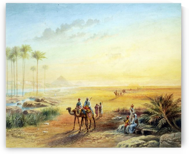 An Oasis at Giza by Frederick Goodall
