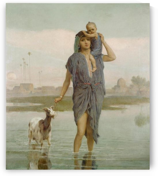 A young mother and a goat by Frederick Goodall