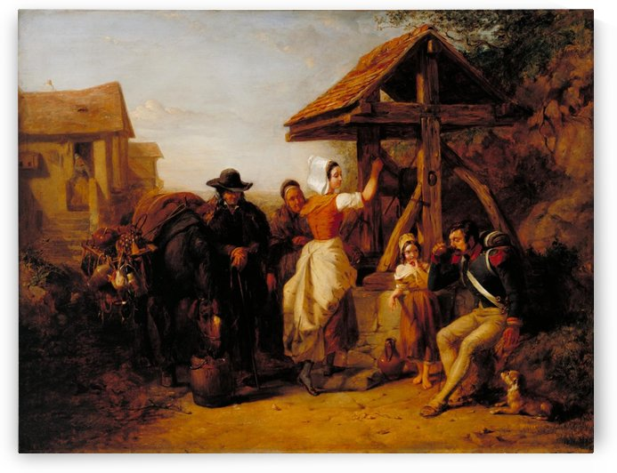 The Tired Soldier Resting at a Roadside Well by Frederick Goodall