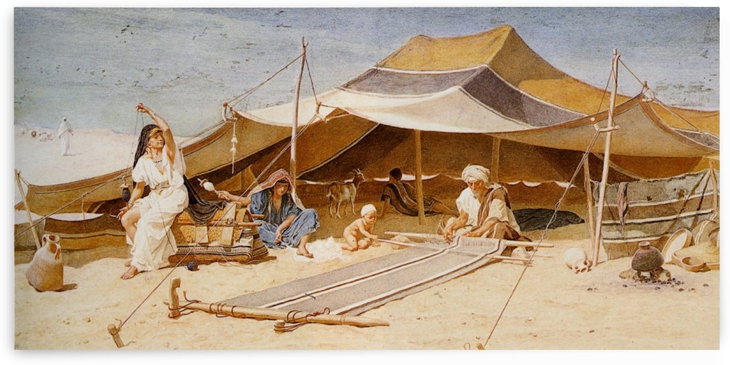 Spinners and Weavers by Frederick Goodall