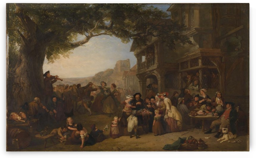 The Village Holiday by Frederick Goodall