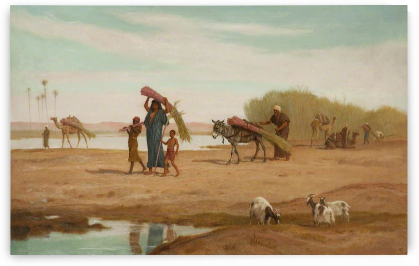 Getting in the Sugar Cane, River Nile by Frederick Goodall