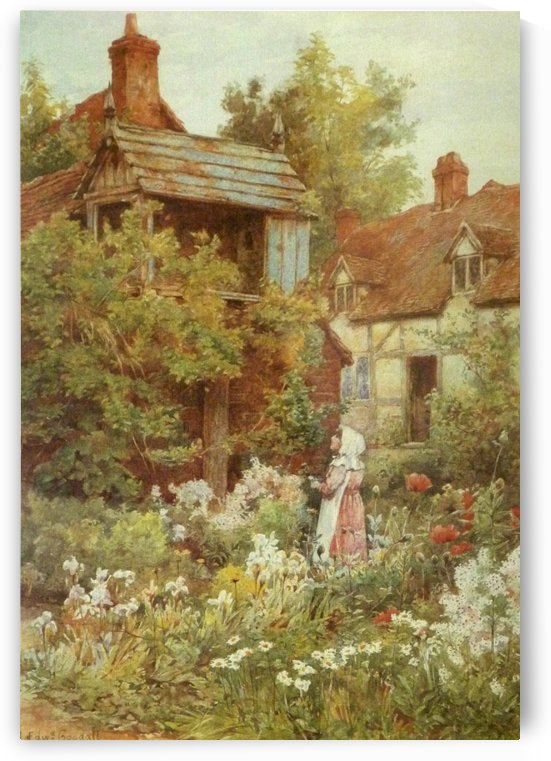 A young girl starring by the house by Frederick Goodall