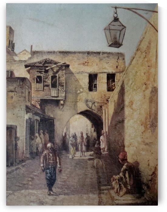 A Street Scene by Leonardo de Mango
