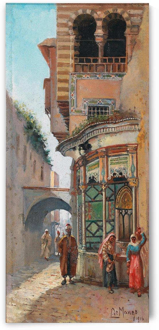 Am Brunnen 1918 by Leonardo de Mango