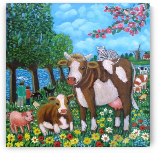 cows in holland by Gloria Gill