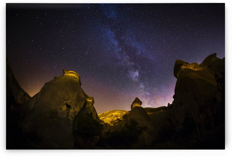 Milky Way over the rocks in Cappadocia by MIRICA DAN-ALEXANDRU
