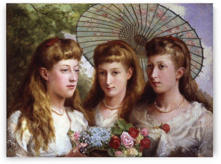 The Three Daughters of King Edward VII and Queen Alexandra by Sydney Prior Hall