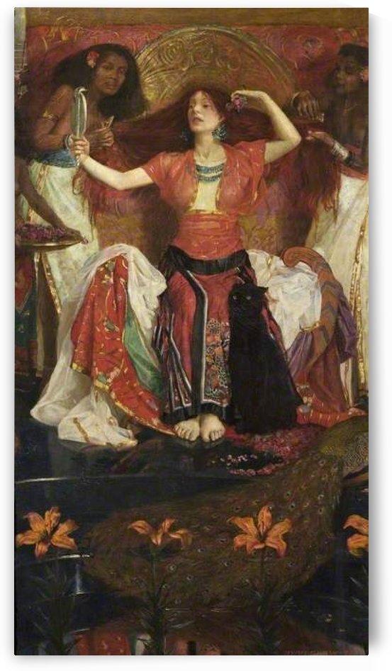 A woman dancing by John Byam Liston Shaw