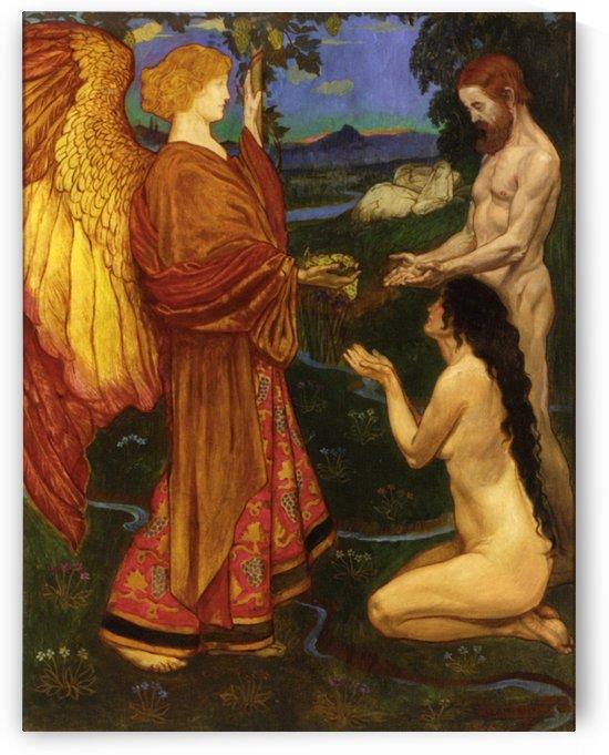 The Angel before Adam by John Byam Liston Shaw
