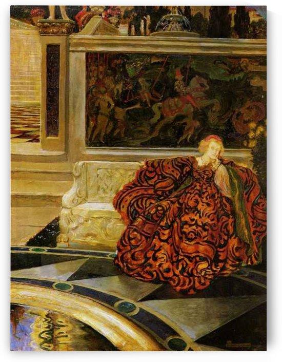 Portrait of an aristocrat lady by John Byam Liston Shaw