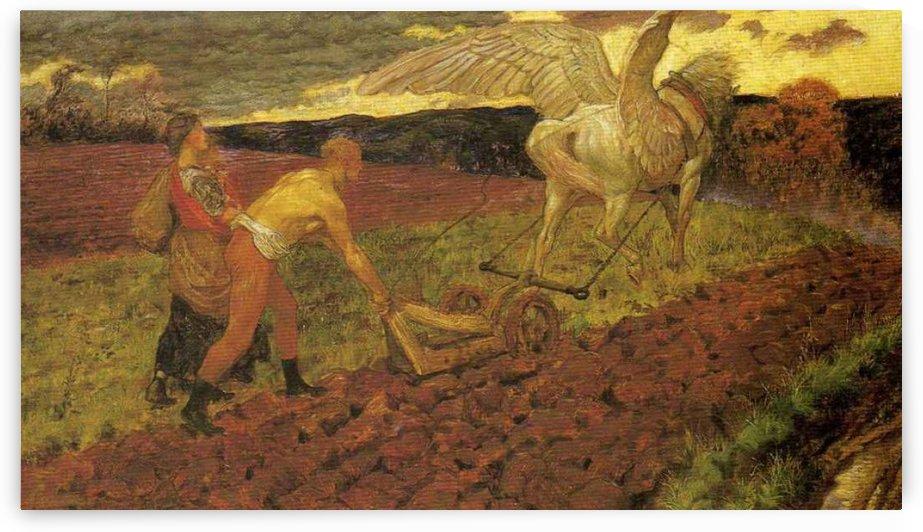 Ploughing by John Byam Liston Shaw