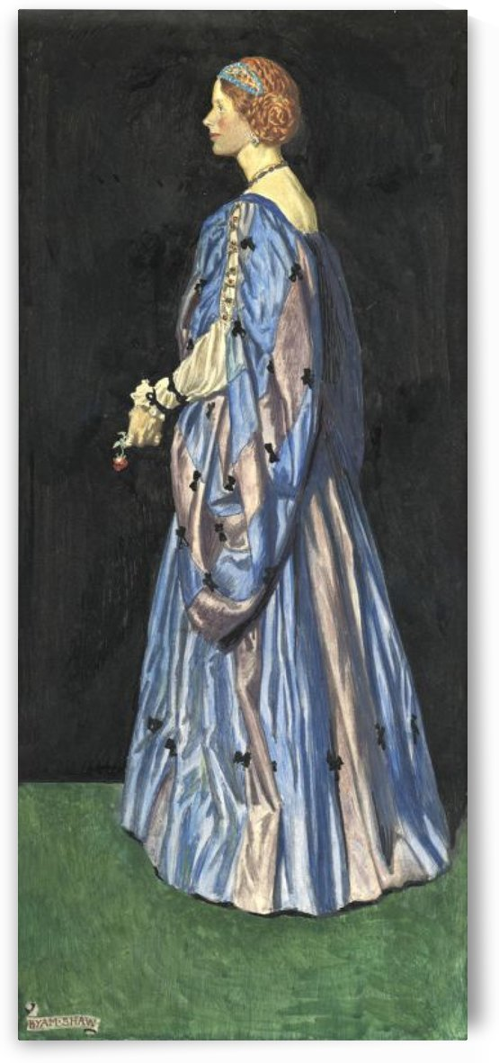 Woman in blue by John Byam Liston Shaw