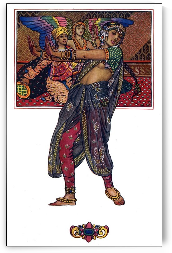 Temple dancing girl by John Byam Liston Shaw