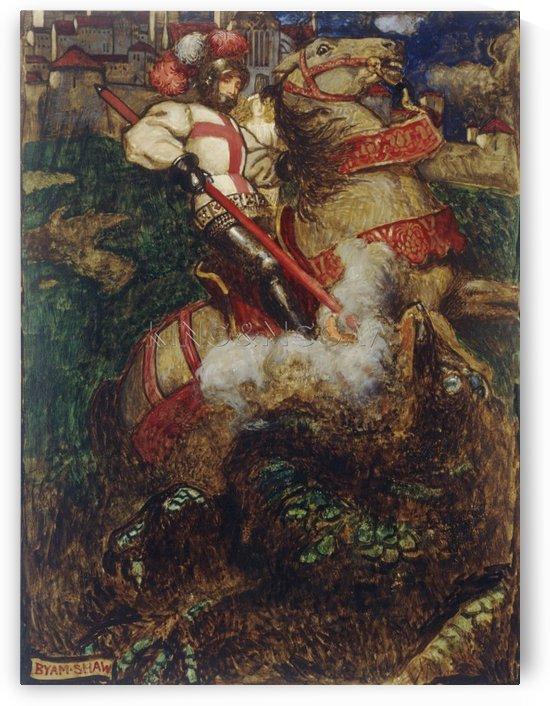 St George Slaying The Dragon by John Byam Liston Shaw