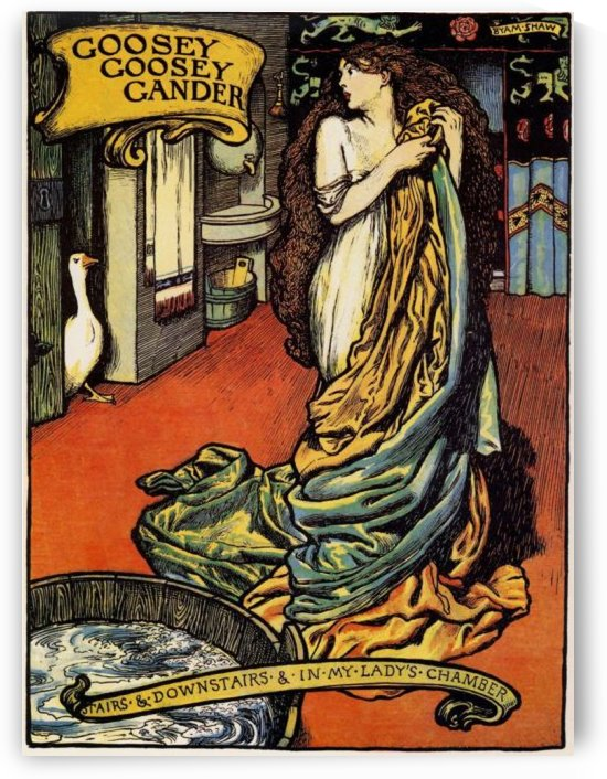 Illustration from old king cole by John Byam Liston Shaw