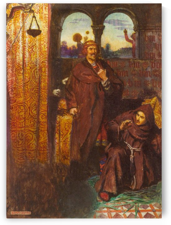 Two monks by John Byam Liston Shaw