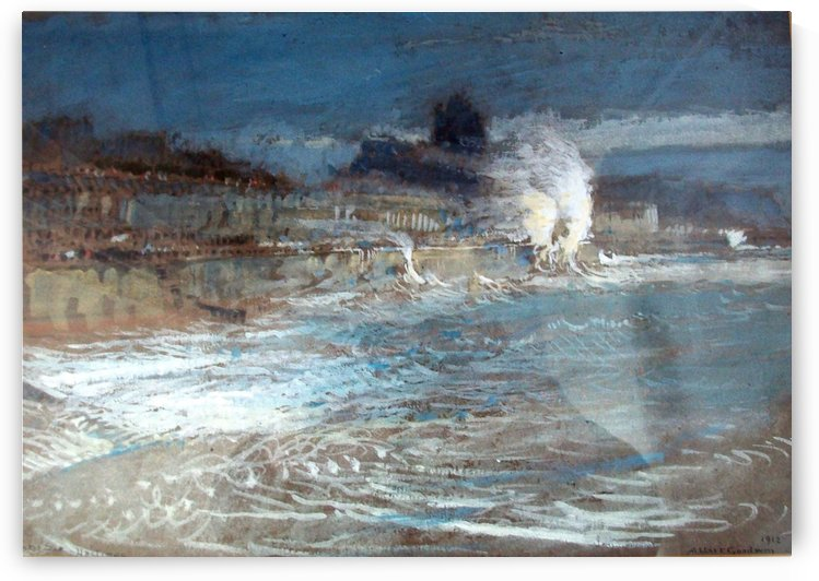 A winter sea by Albert Goodwin