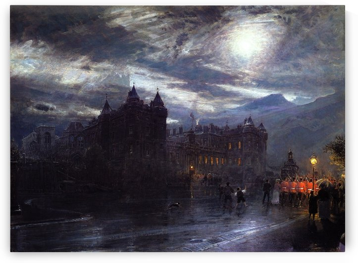 A castle in a windy day by Albert Goodwin
