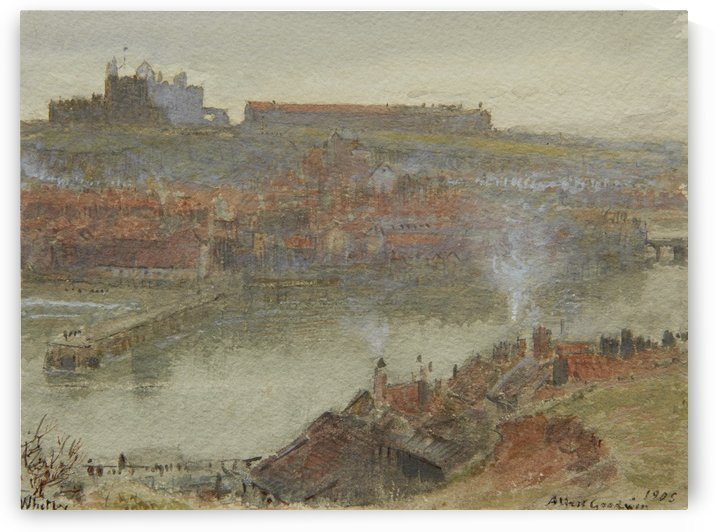 View of Whitby 1905 by Albert Goodwin