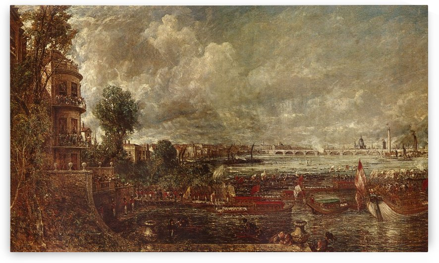 Landscape of a city by Albert Goodwin
