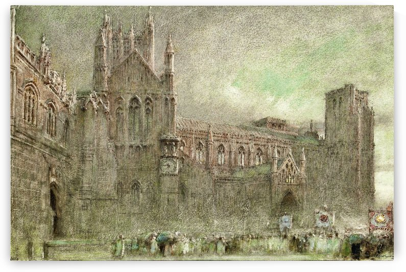 A square and a castle by Albert Goodwin