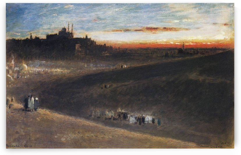 The Citadel, Cairo by Albert Goodwin
