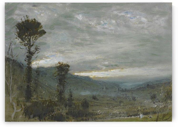 Combe Martin, North Dixon by Albert Goodwin
