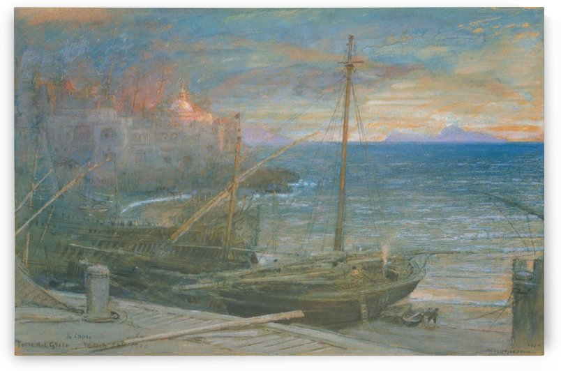 Torre del Greco and Capri by Albert Goodwin
