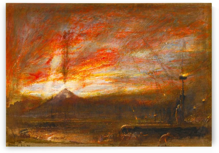 Pompeii BC 75 by Albert Goodwin