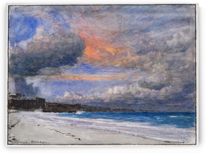 The coral beach Barbados by Albert Goodwin