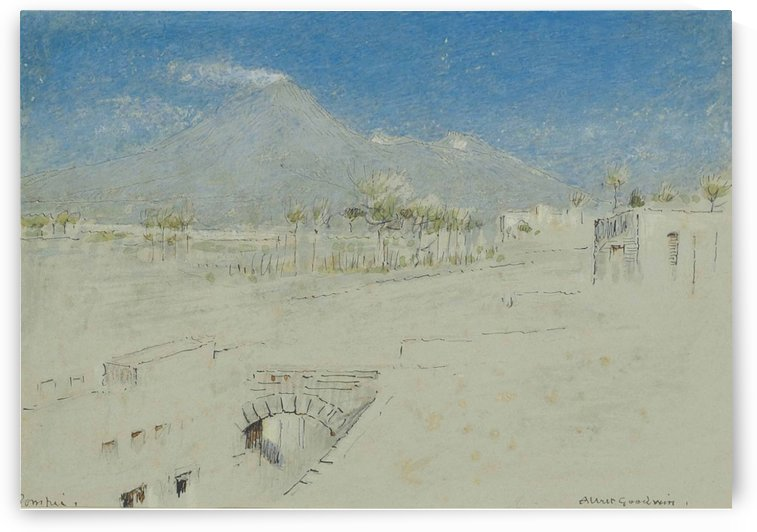 Pompeii, with Mount Vesuvius Beyond by Albert Goodwin