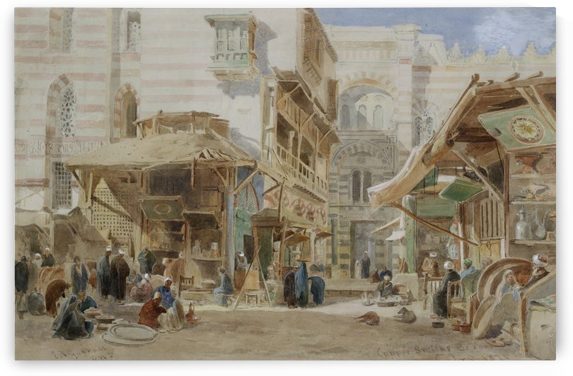 Copper market Cairo 1871 by Edward Angelo Goodall