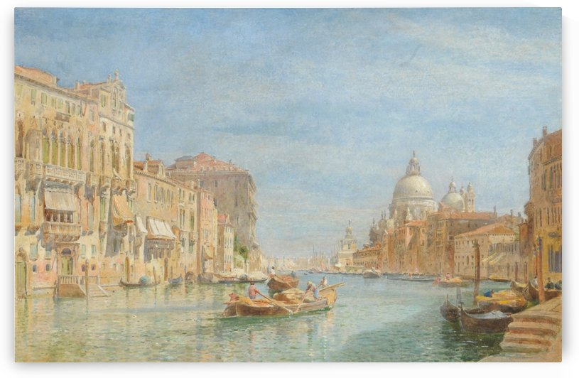 Boats on the river by Edward Angelo Goodall