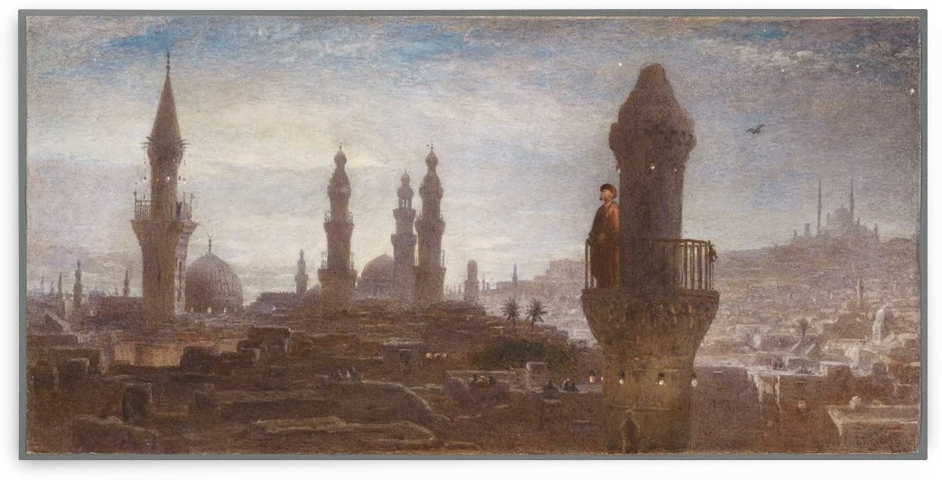 Cairo by moonlight by Edward Angelo Goodall