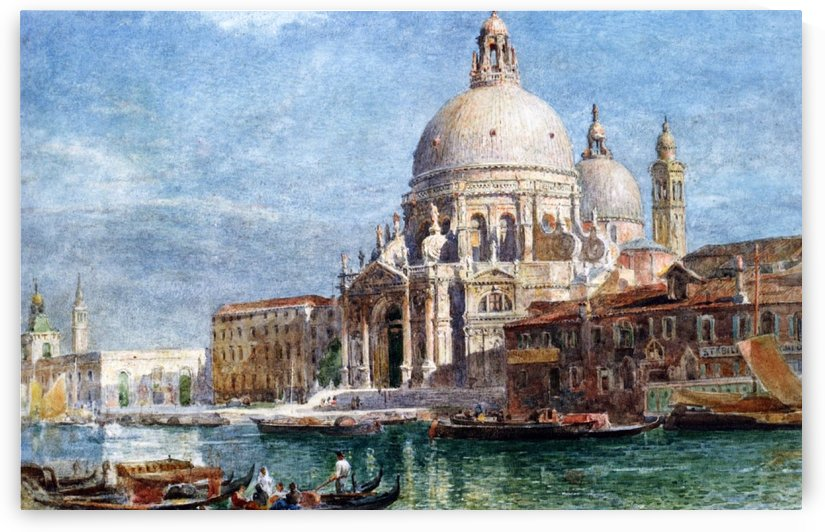 Basilica di Santa Maria della Salute from the Grand Canal by Edward Angelo Goodall