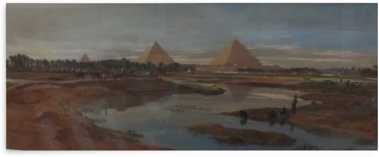 Pyramids at Giza by Edward Angelo Goodall