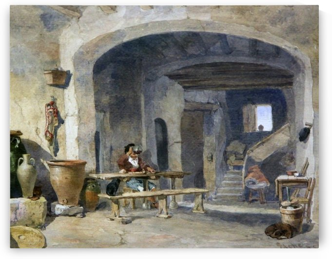 Elche 1853 by Edward Angelo Goodall