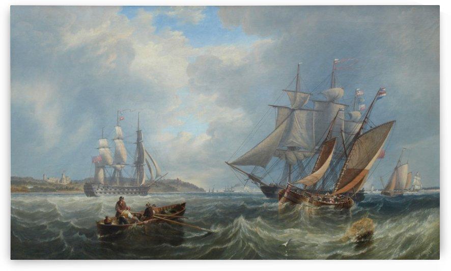 Boats by the sea by John Wilson Carmichael