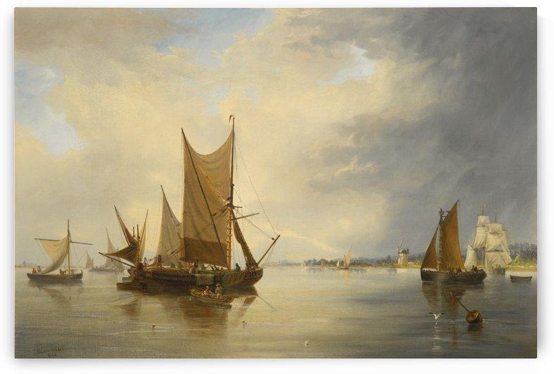 Sailing on the sea by John Wilson Carmichael
