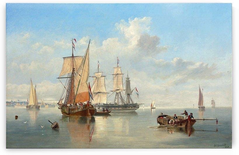 Shipping in a Flat Calm off the Dutch coast by John Wilson Carmichael