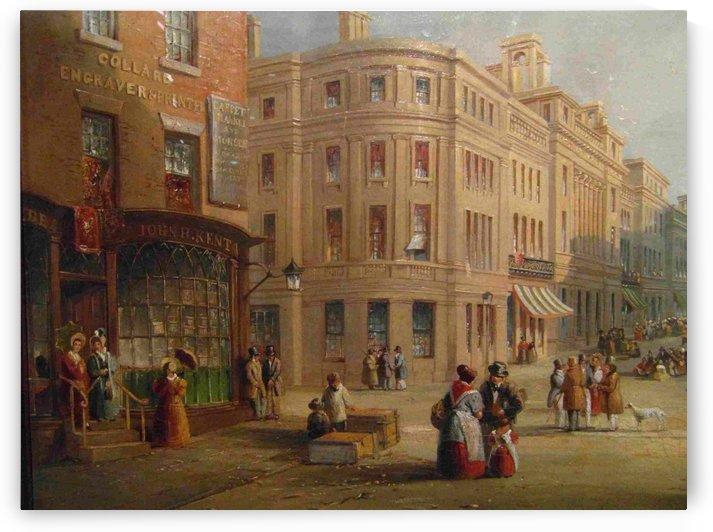 People talking in the street by John Wilson Carmichael