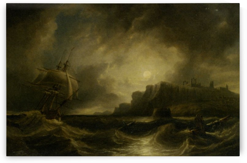 A Breezy Evening off Saint Hildas by John Wilson Carmichael