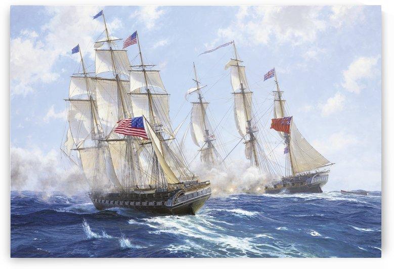 American boats by the sea by John Wilson Carmichael