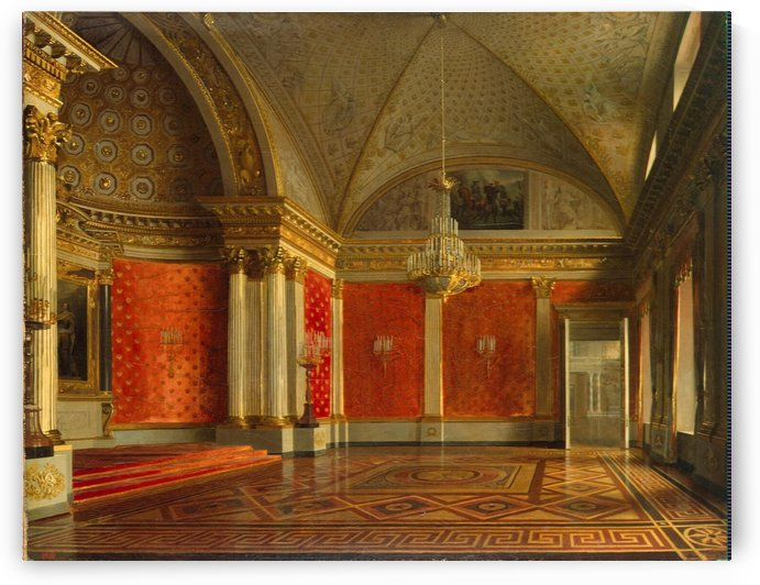 Interiors of the Winter Palace by Sergei Konstantinovich Zaryanko