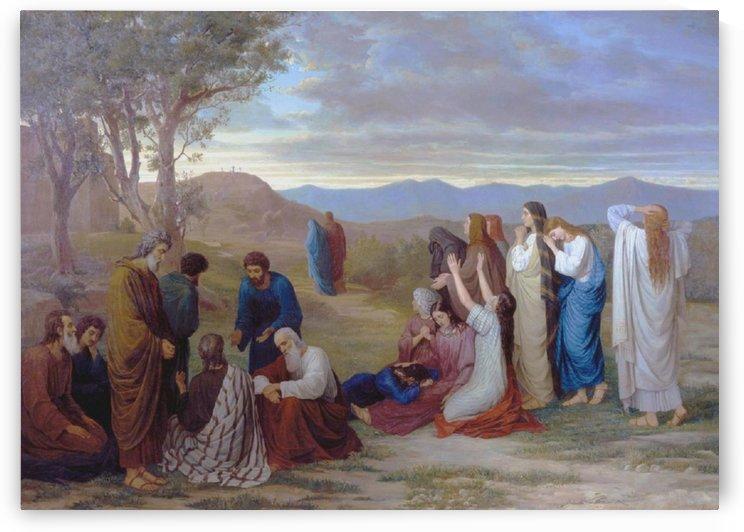 The Women Keeping Watch Near Golgotha by Mikhail Petrovich Botkin